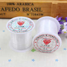 free shipping 5pcs/lot 2mm 3mm white crystal fishing line thread diy Jewelry diy patch accessories handmade bead line  197(China (Mainland))