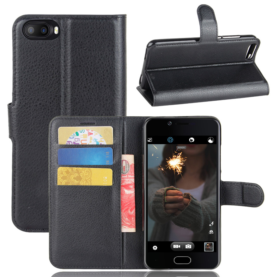 Fashion Wallet PU Leather Case Cover Doogee Shoot 2 Flip Protective Phone Back Shell Visa Card Slot Doogee Shoot 2