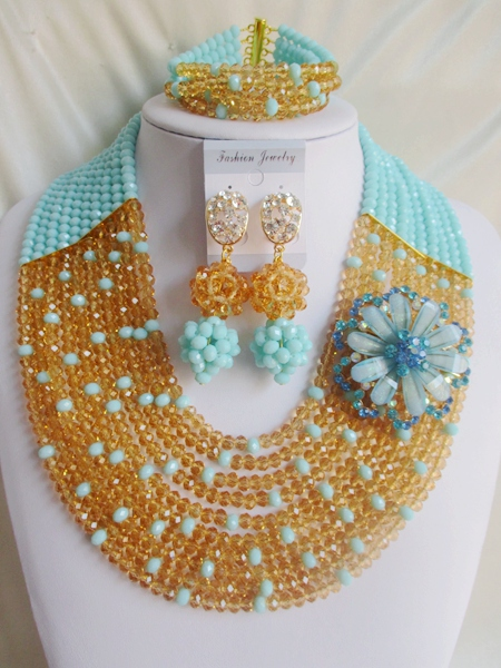2015 new Fashion african beads Jewelry set crystal beads necklace set nigerian wedding african jewelry set free shipping WI-2729<br><br>Aliexpress