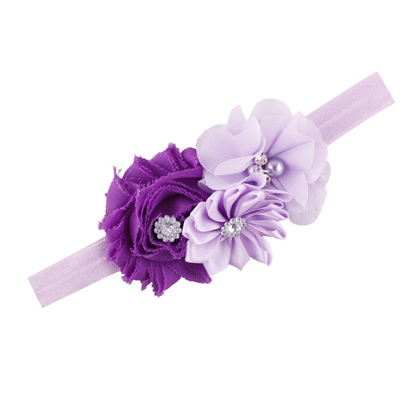 Modern Lovely Baby Headbands Rhinestone Flower Elasticity Hair Accessories For Girls Infant Hair Band clothes,free shipping(China (Mainland))