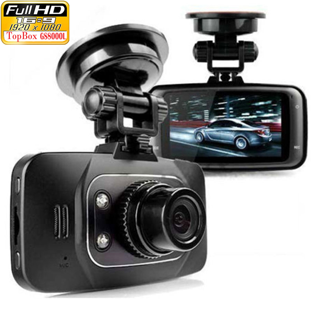 "Original Novatek GS8000L Full HD 1080P 2.7"" Car DVR Vehicle Camera Video Recorder Dash Cam G-sensor HDMI Night Vision Black Box(Hong Kong)"