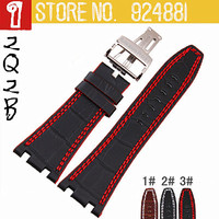 New Arrived 28MM AP Watchbands,3 Styles to Choose,Silver/Rose-gold Fold Buckle,Genuine Leather Watch Straps,Free Shipping