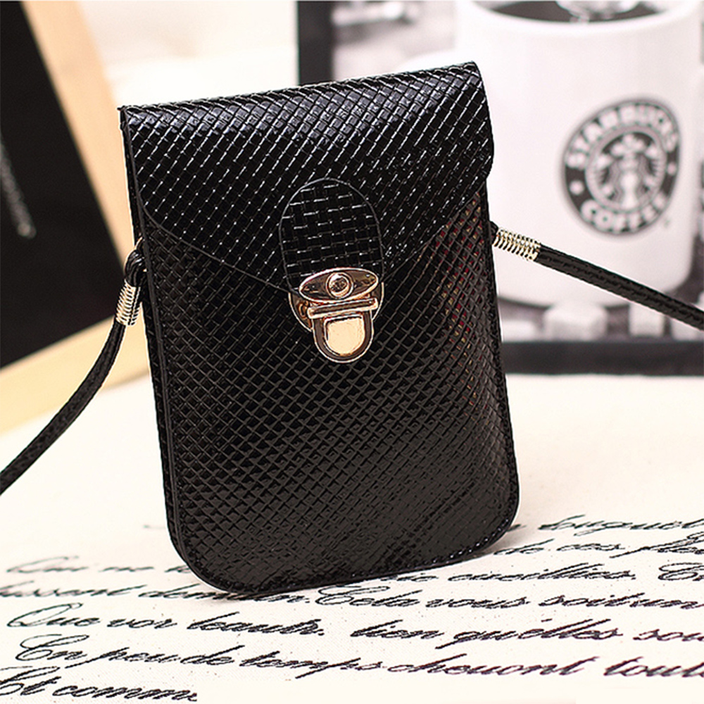 Hot sale Universal Double layer small fashion Shoulder Diagonal mobile phone Bag case mini Messenger Bag for iphone samsung Etc.(China (Mainland))
