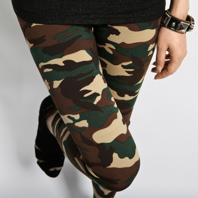 High Quality 2014 New Fashion Female Sexy Length Print Uniformed military camouflage pants Slim Leggings For Women WholesaleОдежда и ак�е��уары<br><br><br>Aliexpress