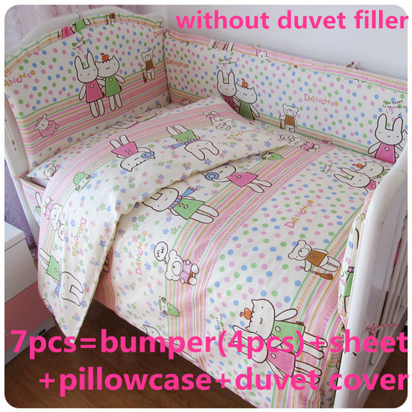 Promotion! 6PCS Bedding Set for Crib!!!Baby Cot Bed,Wholesale and Retail Children Cot Sets ,include (bumpers+sheet+pillowcase)<br><br>Aliexpress