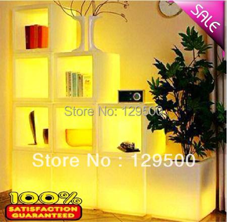 LED show case, show shelf , seven color changing,LED ice bucket 40*40*40CM(China (Mainland))