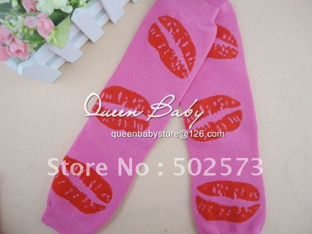 Pink &amp;Red Lips Baby Leg Warmers For Valentine Day Baby Gifts Soft Arm Warmers 60pair/lot<br><br>Aliexpress