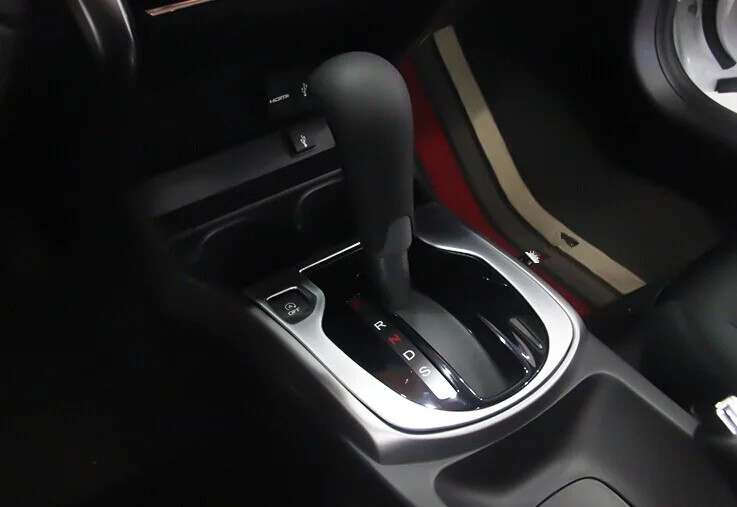 car cover styling for 2015 Honda CITY ABS chromium gear shift level platform frame accessories moulding trim 1pc/set(China (Mainland))