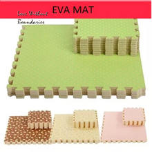 baby EVA Foam Interlocking Exercise Gym Floor play mats rug Protective Tile Flooring carpets 30X30cm 9 pcs /lot Mat Borders free(China (Mainland))