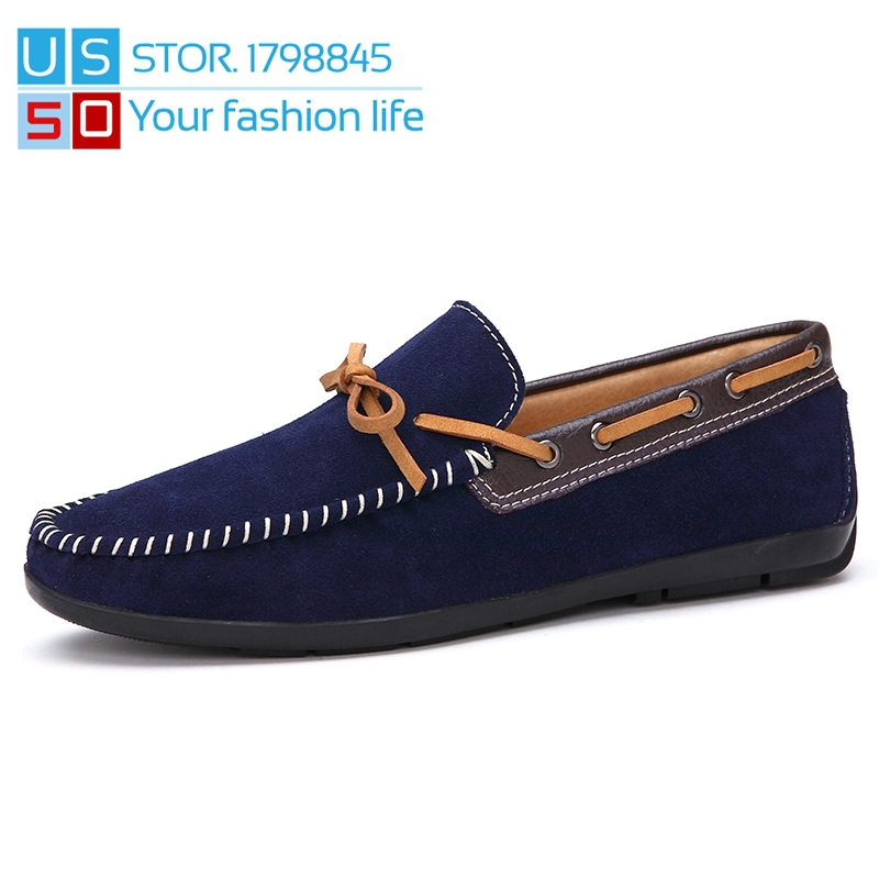2016 Brand Mens Boat Shoes Genuine Leather , Comfortable Breathable Men Casual Spring Velvet Loafers - No-Ling store