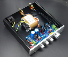 Finished  F1  Class A preamp-amplifier  tone power Treble / midrange / bass adjustment  with Gold seal op amp LME4972HA