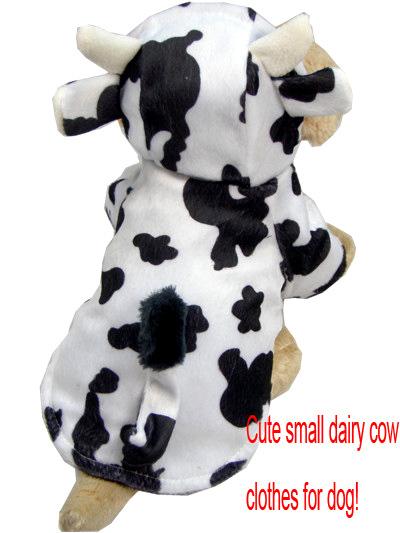 Pet clothes animals dairy cow shape pet clothing dogs four sizes S-XL hat cat puppy dog clothes Perro abrigo.