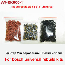 free shipping 100pieces Fuel injector repair kits including fuel injection filter viton orings  for bosch universal clean kits