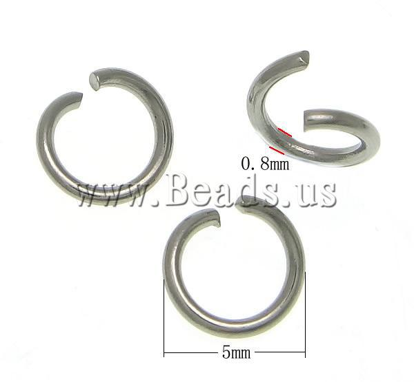 Free shipping!!!Stainless Steel Jump Rings,Brand, 304 Stainless Steel, Round, oril color, 5x5x0.80mm, 25000PCs/K Sold By KG<br><br>Aliexpress