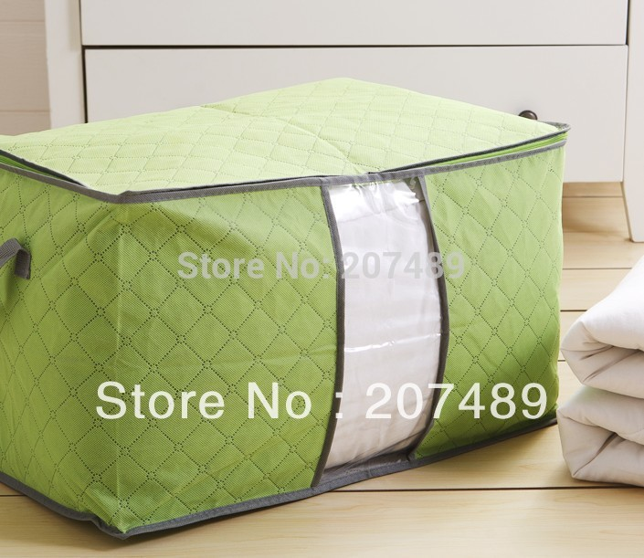 size 60*40*36cm colorful foldable Bamboo Charcoal fibre storage bag box case clothes quilt etc tidy organizer wholesale retail(China (Mainland))