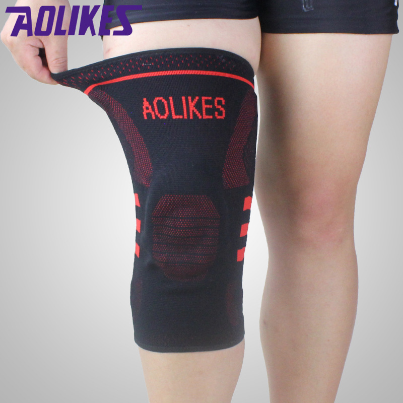 AOLIKES 1 Pcs Basketball Knee Brace Compression Knee Support Sleeve Protector Of Injury Recovery Volleyball Fitness Sport Safety(China (Mainland))