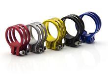 Прочный алюминиевый велосипедов подседельный зажим горный велосипед подседельный зажима abrazadera tija 31.8 / 34.9 / 37 мм ( рамки )