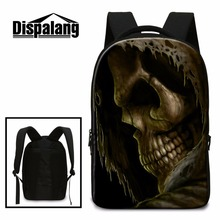 Buy Best Skull Laptop Backpacks Boys Teenagers School Bags Large Capacity Coolest Back Pack Girls Cool Bookbags Lightweight for $34.16 in AliExpress store