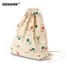 Buy High Tree Flowers Printed Women Drawstring Backpack Girls Mochila Bucket School Bag Casual Sack Bag Travel Bags G0783 for $4.39 in AliExpress store