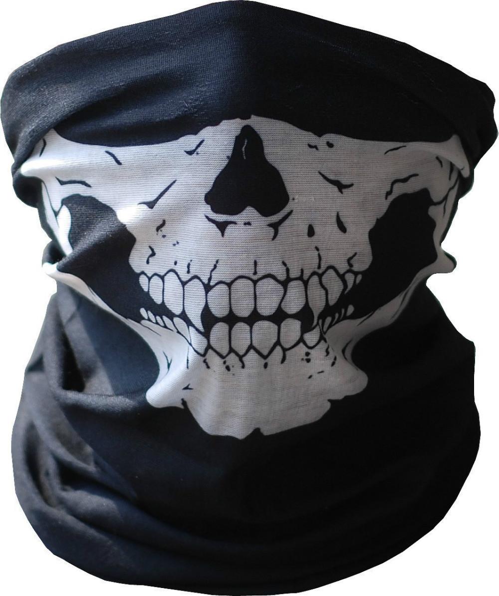 Skull Mask Motorcycle Face Neck Bandana-in Skullies ...