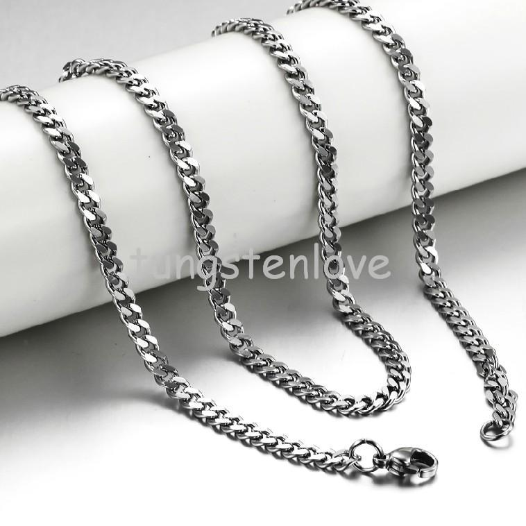 Fashion 20 Inch Fashion Mens Stainless Steel Hypoallergenic Chunky Curb Link Chain Necklace 3.5mm width(China (Mainland))