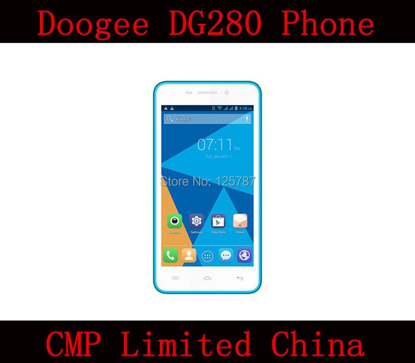 DHL Free Shipping Doogee DG280 Smart Phone MTK6582 Quad Core Android 4.4 IPS 854X480 1GB RAM 8GB ROM 8.0MP WCDMA Dual Sim(China (Mainland))