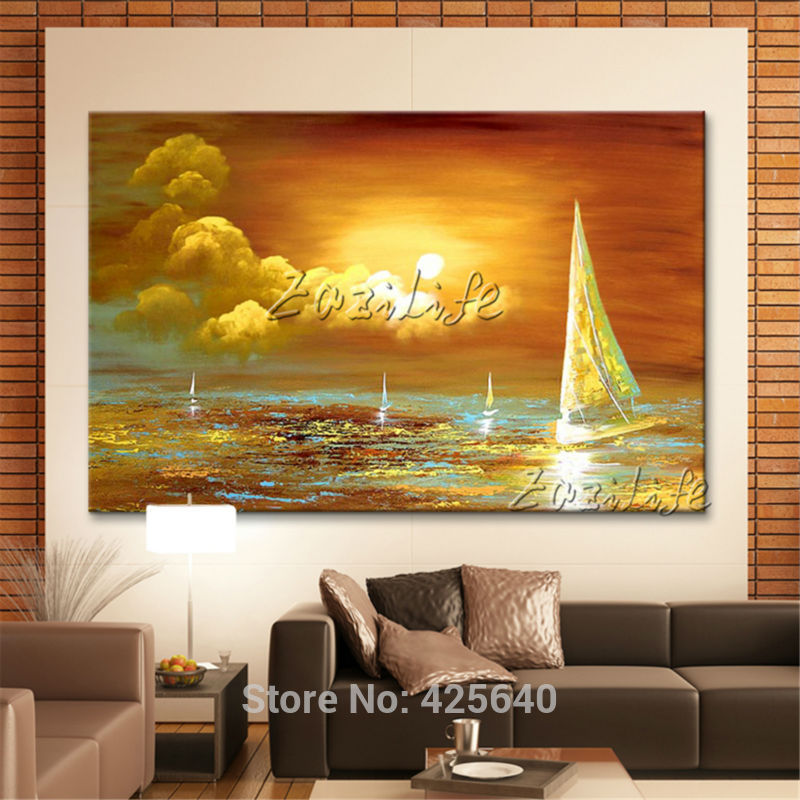 Buy Hand Painted Canvas Oil Paintings Wall Art Pictures For Living Room Large