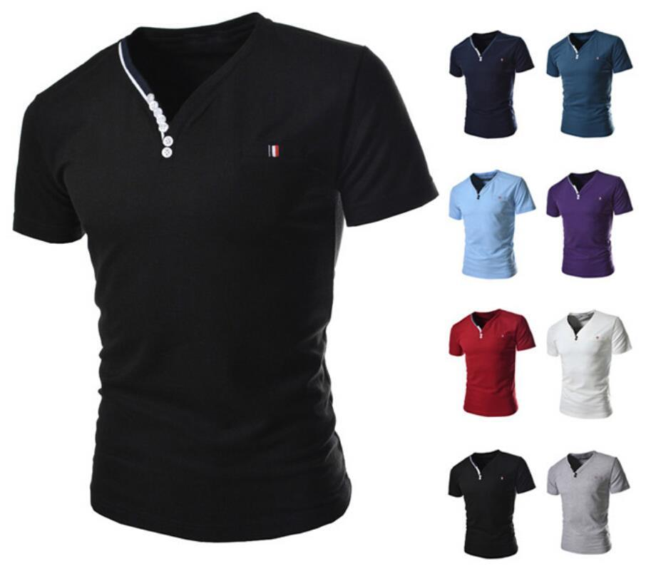 New fashion brand mens designer casual v neck t shirts tee New designer t shirts