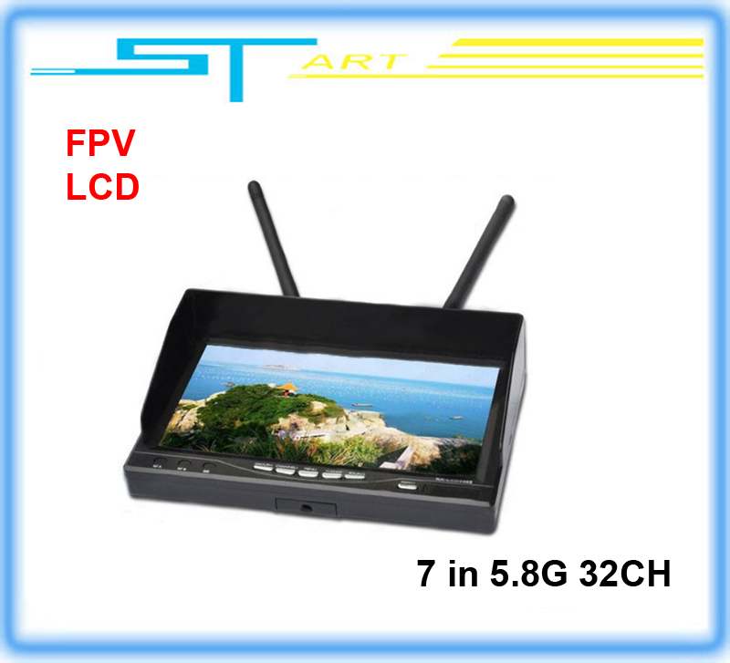 FPV monitor  7 Inch TFT The latest Integrated Dual 5.8G 32 frequency receiver  Diversity LCD Screen Receiver Monitor flying<br>