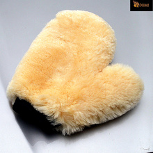 2Pcs/Lot Nature Australian Sheepskin Car Detailing Mitts Washing Care Truck Beige Color Hot Sale Free Shipping(China (Mainland))