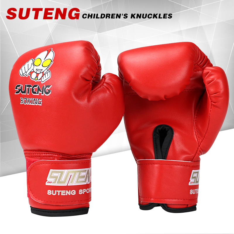 Good quality carton display boxing glove happy sheep toy Blue red color children kids kick muay thai fighting boxing gloves<br><br>Aliexpress