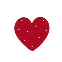 2 Pcs/set Kartun Merah Besar Hati Kecil Enamel Lucu Wanita Bros Denim Jaket Kerah Pin Dekorasi Lencana Fashion Perhiasan hadiah(China)