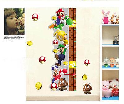 Nintendo Wall Sticker Wandstick Super Mario Bros Wanddeko wandtattoo(China (Mainland))
