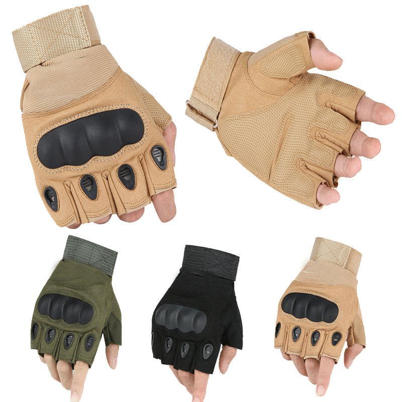 US Army Tactical Gloves Outdoor Sports Half finger Combat Glove Slip-resistant Carbon Fiber Mittens Wholesale