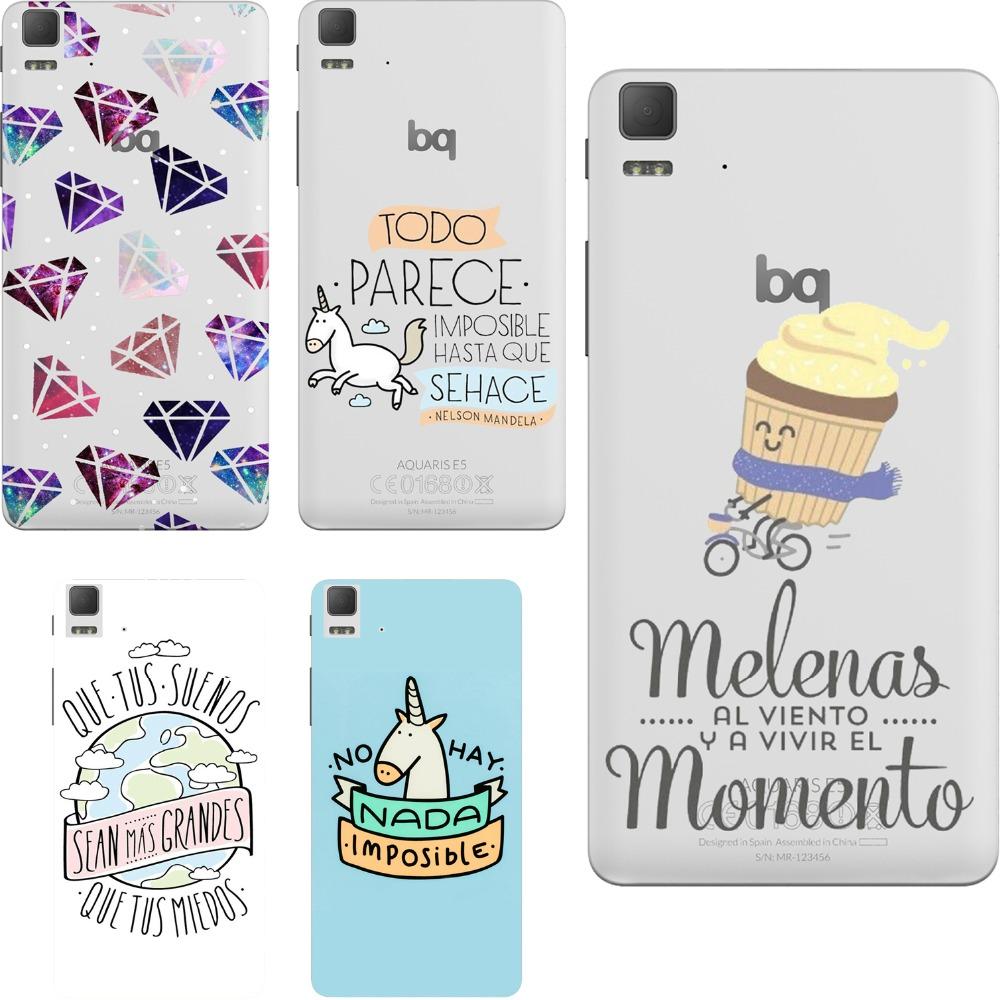 For bq phone cases spain wonderful cartoon print design soft silicon case fundas cover for BQ Aquaris E4.5 E5 E5 4g M5 M5.5 X5(China (Mainland))