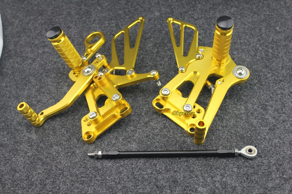 Gold Adjustable Rear Sets Motorcycle Foot Pegs BMW S1000RR 09-14 09 10 11 12 13 14