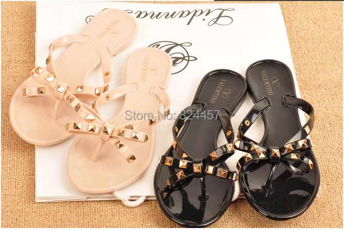 Гаджет  2014 summer women sandals summer shoes camellia slippers brand flip flops Melissa  jelly rivet shoes crystal sandals Wholesale None Обувь