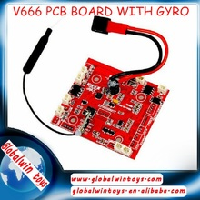 WL V666 rc drone reciver board with GYRO quadcopter spare parts V666 PCB board helicopter parts