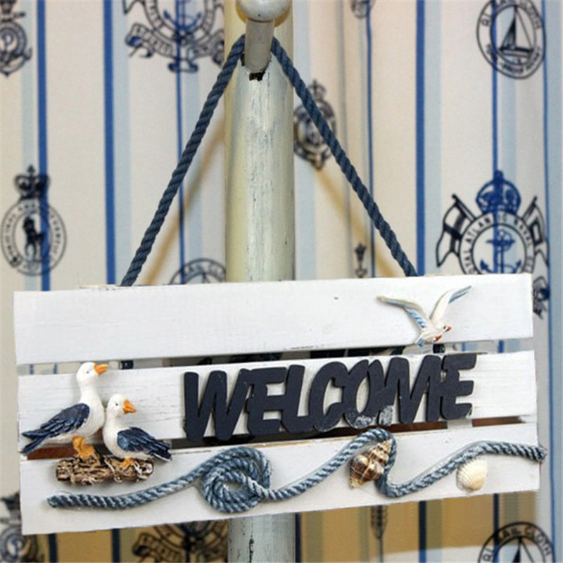 Creative Pastoral Welcome Sign Decor Home Accessories Wood