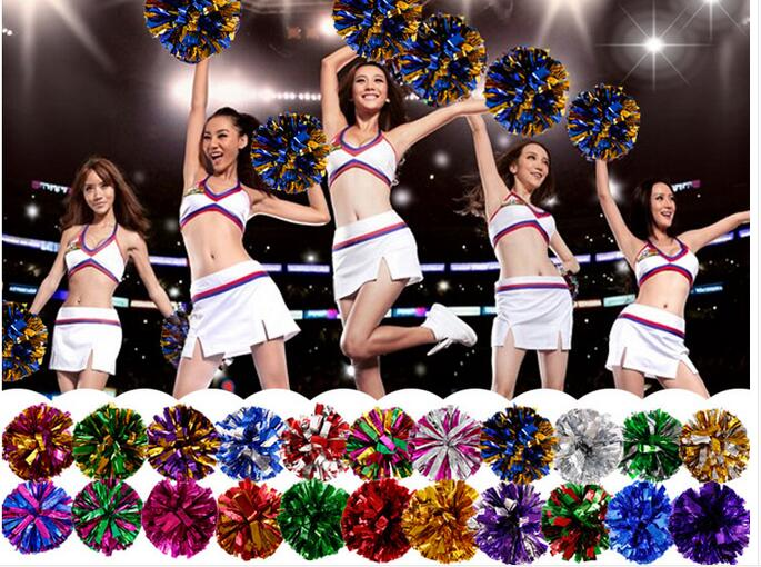 Free Shipping Rose All Star first single paragraph cheerleading pom pon Cheerleading cheer supplies#1832(China (Mainland))