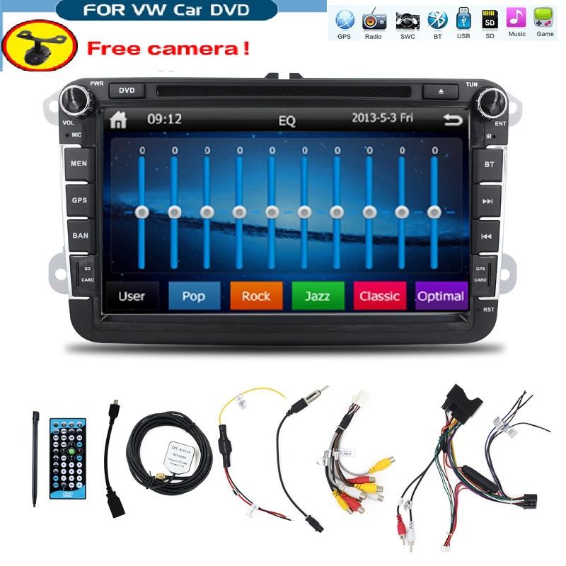 8inch 2din Multimedial VW Car DVD GPS Navigation audio camera TV player for GOLF 6 new polo New Bora JETTA B6 PASSAT SKODA Map(China (Mainland))
