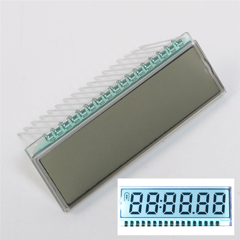 GDC0570 LCD Display Module Clock 6 Bit 8 Characters Dynamic Driving TN Type LCD Screen Display Digit Clock 40*14*2.8mm 3V(China (Mainland))