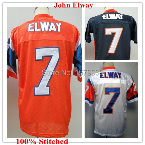 #7 John Elway Throwback Jersey Broncos Throwback Football Jerseys Authentic blue jersey Stitched Size M-XXXL Accept Mix Order(China (Mainland))