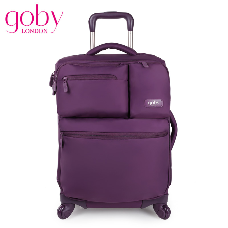 Women Nylon 21'' Spinner Wheels Suitcase Trolley Travel Luggage Super Light Fashion Air Boarding Case Red/Blue/Purple(China (Mainland))