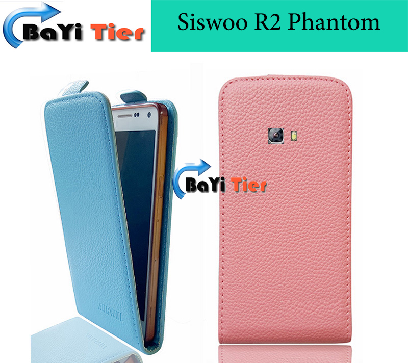 2016 Original Aierwill PU Leather case - For Siswoo R2 Phantom Open down and up Vertical Flip Case For Siswoo In Stock(China (Mainland))