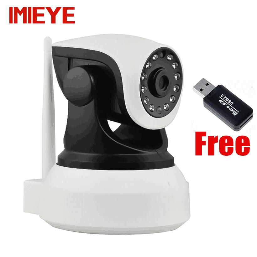 IMIEYE HD 720P IP camera wireless wifi cctv night vision P2P webcam TF card PTZ Onvif ip kamepa wi-fi security surveillance cam(China (Mainland))