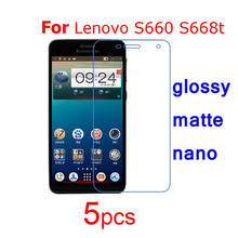 5pcs Guard protective film for Lenovo S660 S668t S720i K910 Vibe Z A369i Screen Protector,Ultra Clear/matte/Nano Explosion Proof