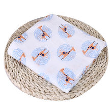 Puseky 110x110cm Newborn Baby Cotton Bat Man Plant Animal Soft Muslin Swaddle Shower Bath Towel Blanket Wrap Cloth Bedding Cover(China)