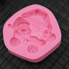 3D Baby Carriage Silicone Gel Cake Fondant Mold Cupcake Decorating Decoration Tools Gum Pastry Tool SM-173 - Create Cakes store