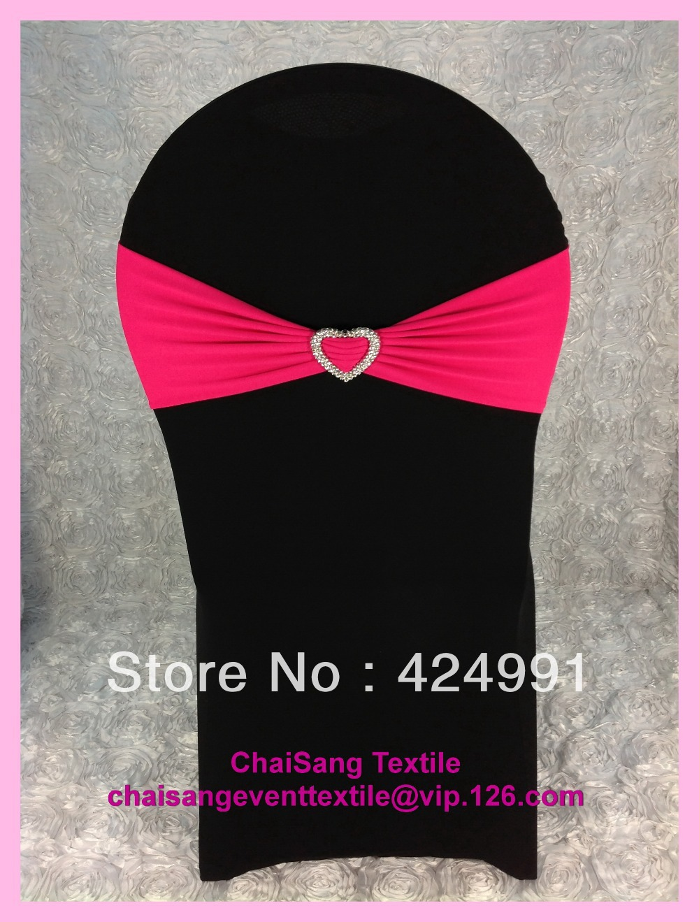 100pcs #21 Fuchsia Pink Lycra Chair Bands&Sash with Heart Shape buckle ,Double Layer Lycra Bands for Weddings Events Decoration(China (Mainland))